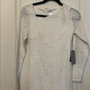 Jennifer Lopez white dress with sequins